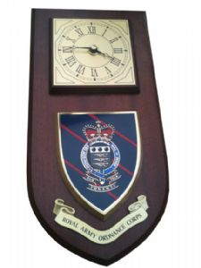 RAOC Royal Army Ordnance Corps Regt Wall Plaque & Clock